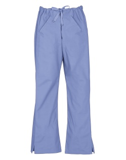 LADIES SCRUB PANTS MID BLUE
