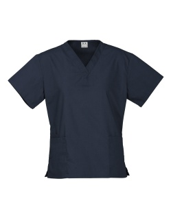 Navy Ladies Classic Scrub Top