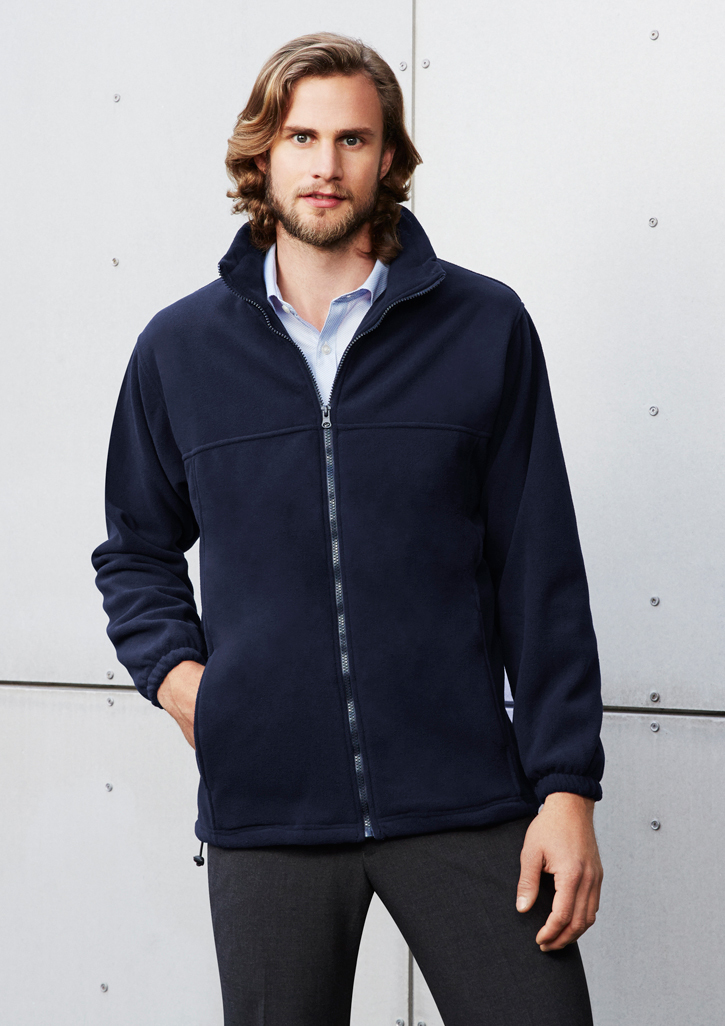 Mens Plain Poly Fleece Jacket