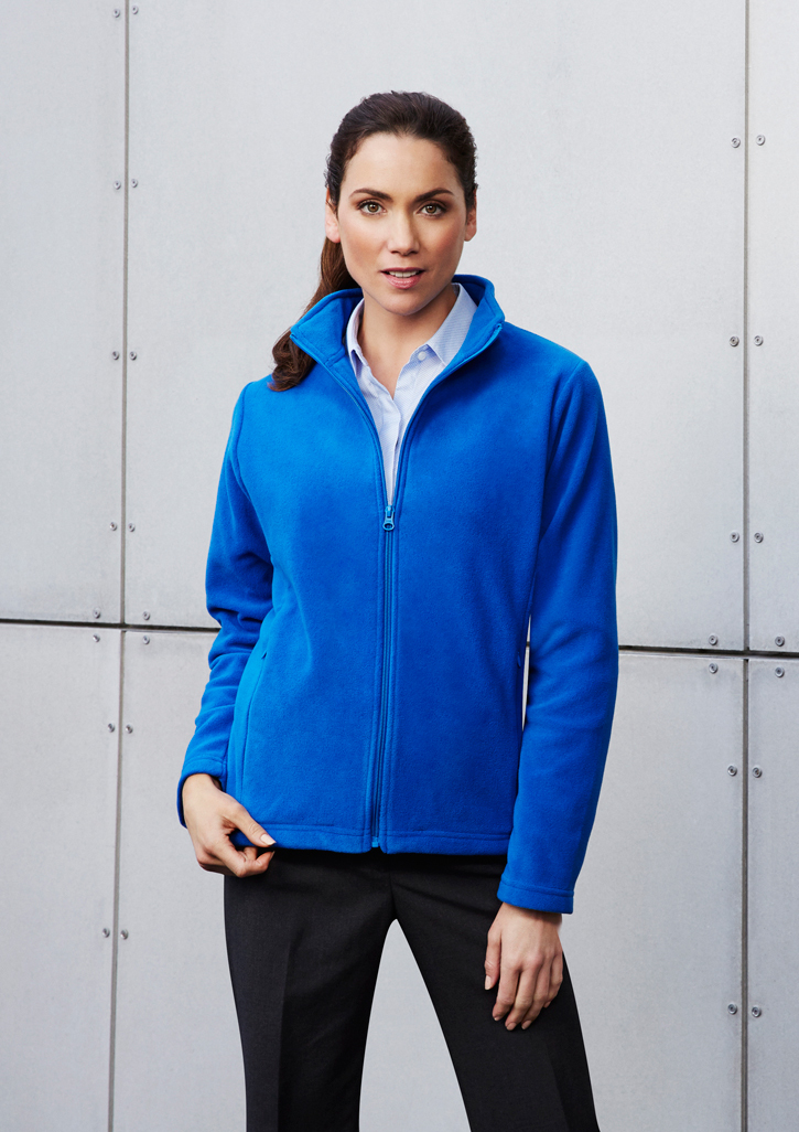 Ladies Plain Poly Fleece Jacket - PF631