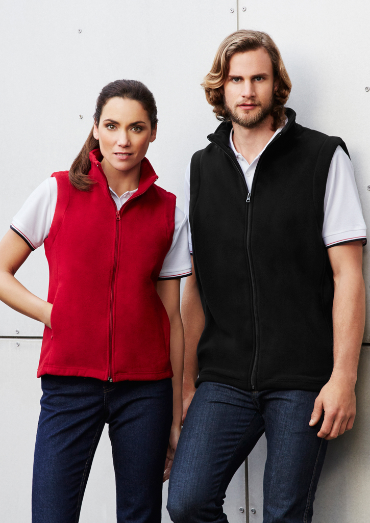 Ladies Plain Poly Fleece Vest - PF905
